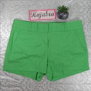J. CREW Factory Green Chino Broke In Shorts 0 NWT